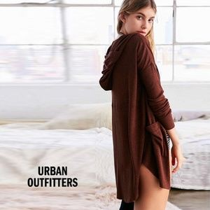 UO Out From Under Cozy Penelope Hoodie Cardigan